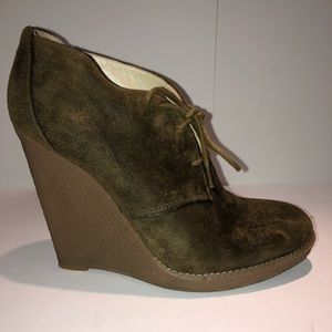 Enzo Angiolini Distressed Suede Booties